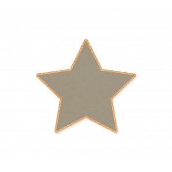 Wall Cork Cool Grey Star
