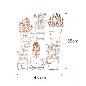 Vinilo Cobre Plants