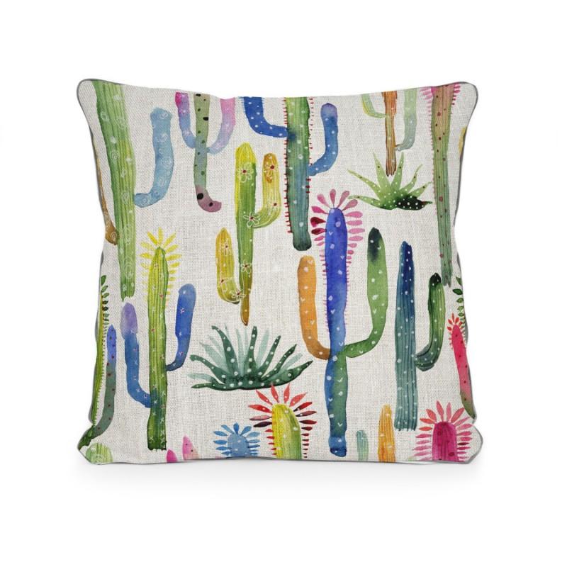 Cojin Watercolor Cactus