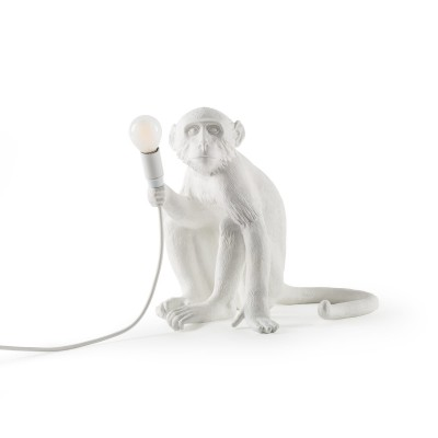 Monkey Table Lamp Sitting