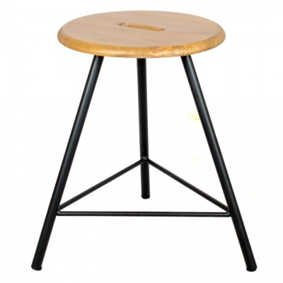 Black Industrial Bourne Stool