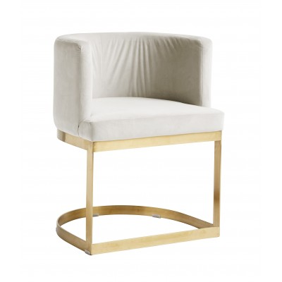 White Lounge Dinner Chair