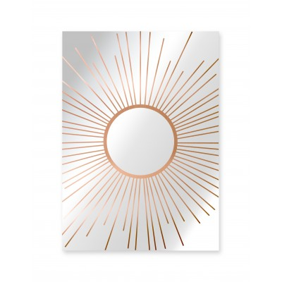 Decorative Mirror Copper Sun
