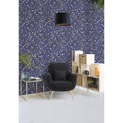 Papel Pintado Blue Terrazzo