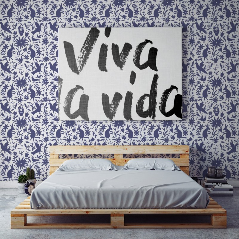 Papel Pintado Frida Blue