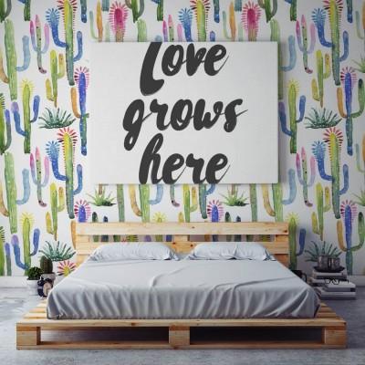 Papel Pintado Watercolor Cactus