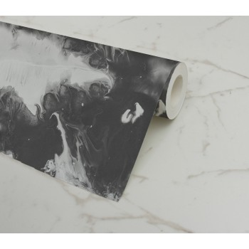 Papel Pintado Black & White Marble