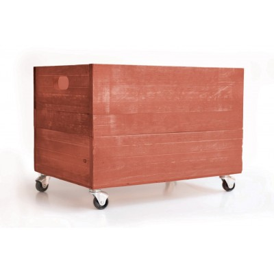 Wood Box 1945 with Wheels Coral Peach