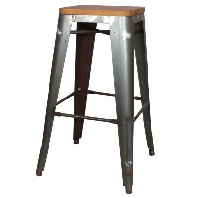 Customizable Tolix Wood Stool