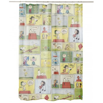 Comic Snoopy Bathroom Curtain