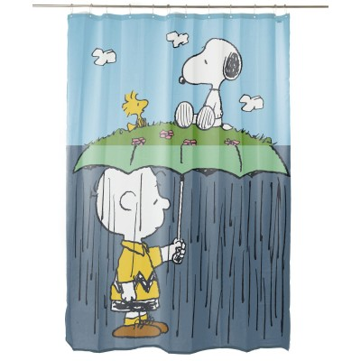Charlie Brown Rain Bathroom Curtain