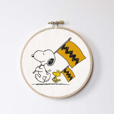 Stitch Hoop Snoopy flag