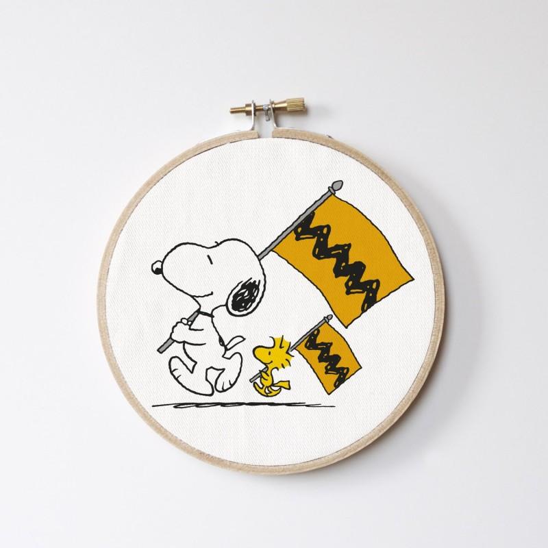 Stitch Hoop Snoopy flag