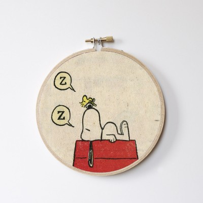 Snoopy Sleeping Stitch Hoop
