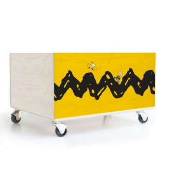 Cajón Decorado Charlie Brown skate