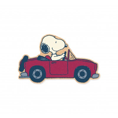Corcho Pared Snoopy Car