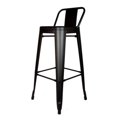 Tolix Style Stool with Backseat