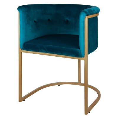 Blue Velvet Russell Chair