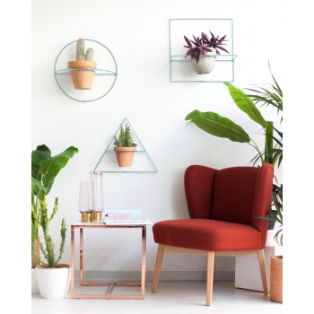 Wire Wall Plants Triangle Colors