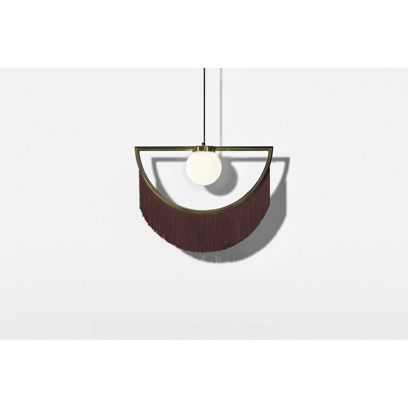 Wink Lamp Gold&maroon