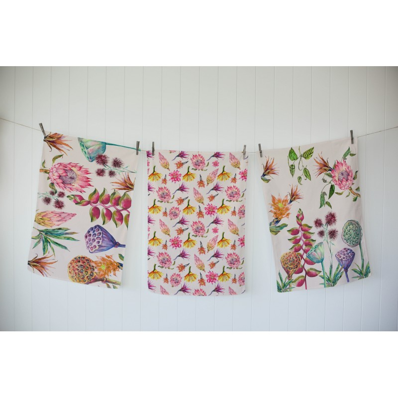 Set 3 Cloths Flores Salvajes