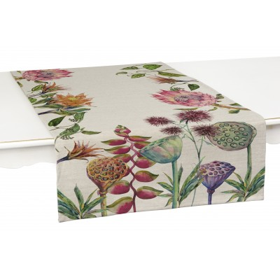 Set Linen Table Runner Flores Salvajes