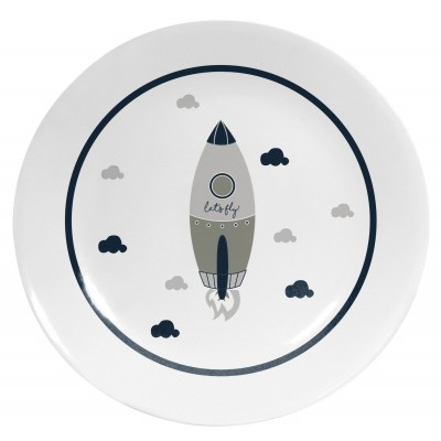 Plato Decorativo Cool Grey Rocket