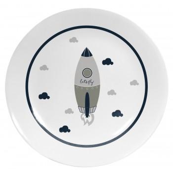 Plato Decorativo Cool Grey Rocket