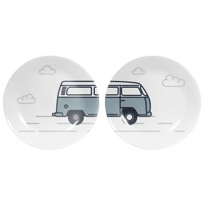 Set de 2 Platos Decorados WW Van