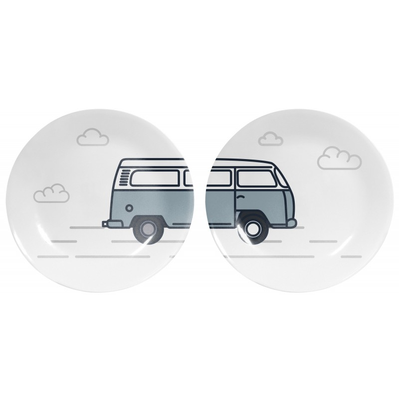Set 2 decorated dishes WW Van