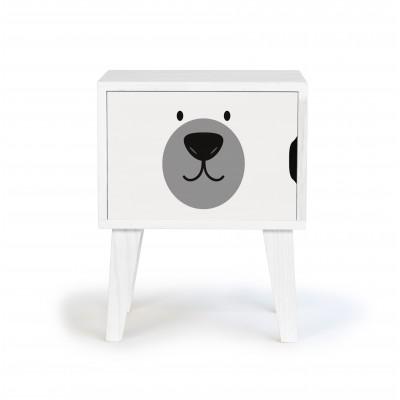 Bedside Table Bear Face