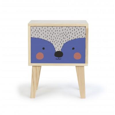 Bedside Table Blue Hedgehog