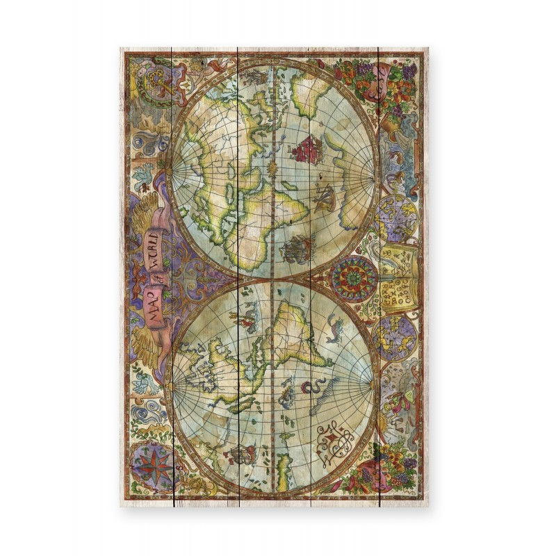 Tabla 60x40 (Map of World)