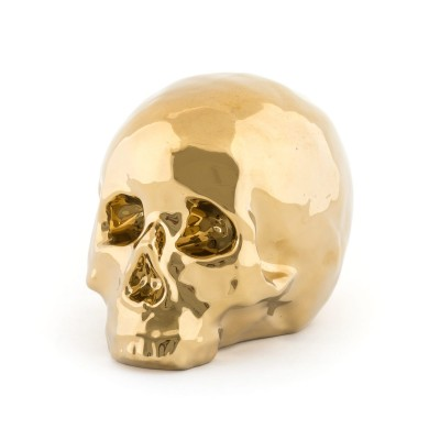 Porcelain skull Gold Really