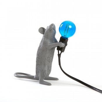 Mouse Lamp Standing Gray