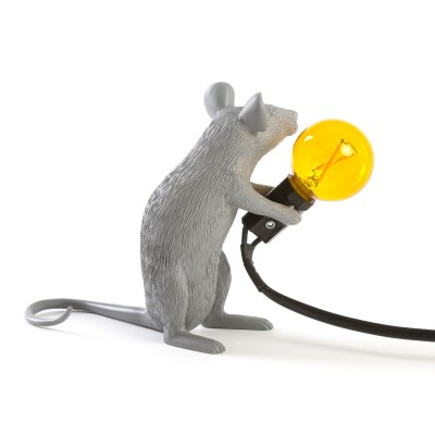 Mouse Lamp Sitting Gray