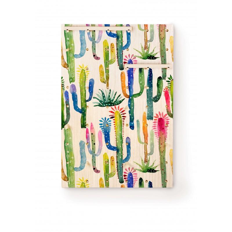 Watercolor Cactus Pegboard