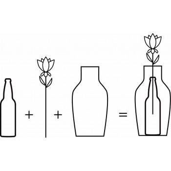 Flower vase Oak