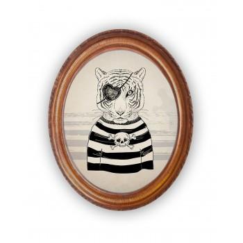Decoración Vertical Pirate Tiger