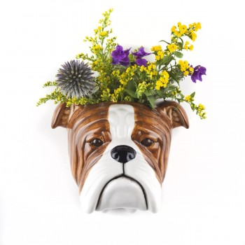 English Bulldog Wall Vase