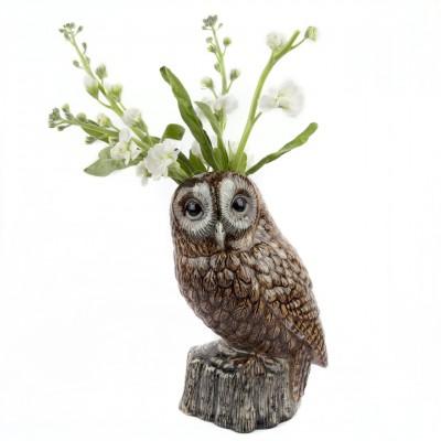 Tawny Owl Flower Vase Large