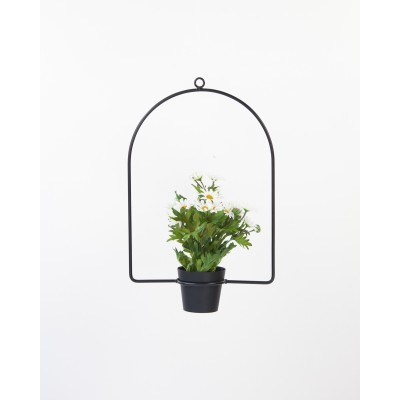 Metal Hanging Planter Arc Black