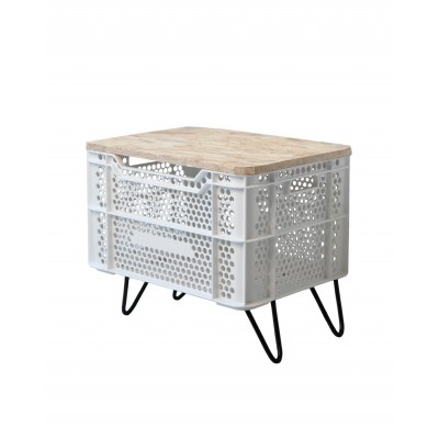 Eco Storage Table Blanco