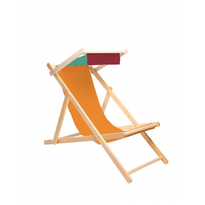Deck Chair Orange Block