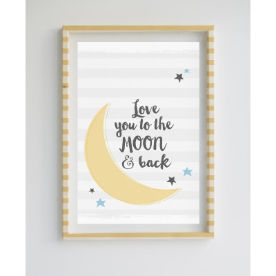 Painting Limited Edition Love to the Moon