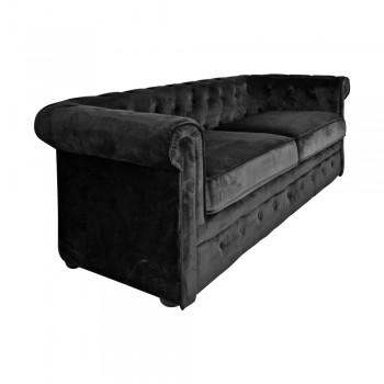 Sofa Chester Liverpool 3 plazas Negro