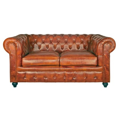 Chester Camel 2 Seater Skin Sofa