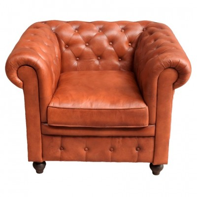 Chester Camel 1 Skin seater Armchair