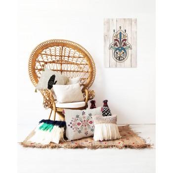 Cojin 50x35 Lino Borlas (Flowers Tapestry)