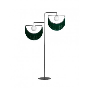 Winl Standing Lamp - Silver&Turquoise